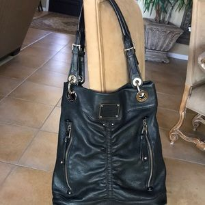 B Makowsky Leather Hobo Shoulder Bag